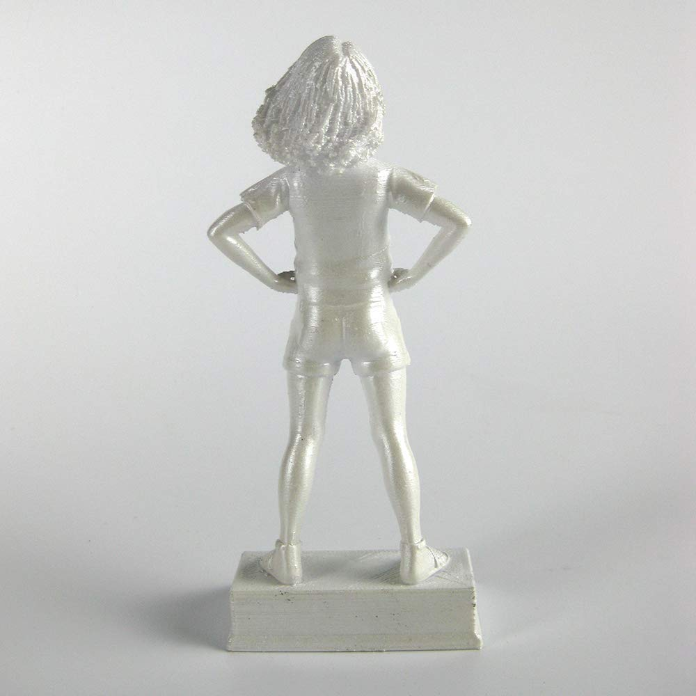 Girl Power-Lily motivational and inspirational girls room decoration figurine in pearl white Beware for I am Fearless